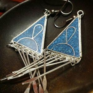 Turquoise Earrings Gemstone Sterling Silver new